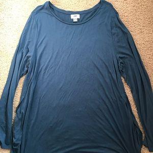 Women's long sleeved tunic top
